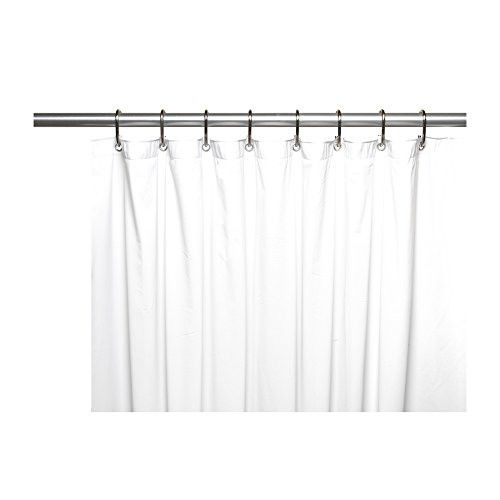 Park Avenue Deluxe Collection Park Avenue Deluxe Collection Shower Stall-Sized 5 Gauge Vinyl Shower Curtain Liner in White