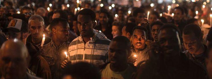Afrikanische Demonstranten in Tel Aviv: Leben in der Heimat in Gefahr