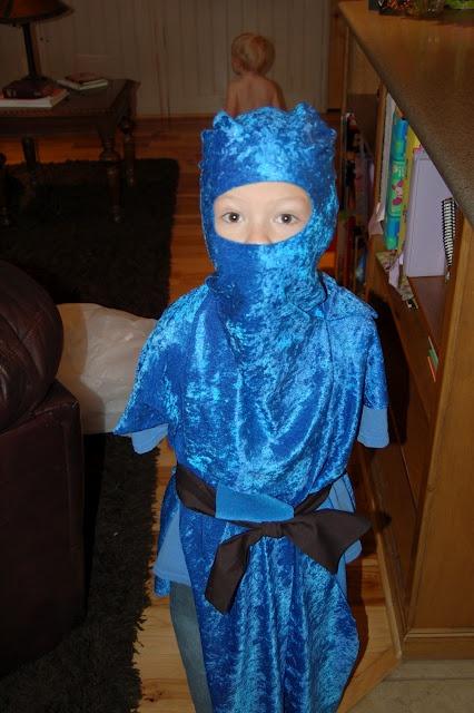 Ninjago costume for Theo