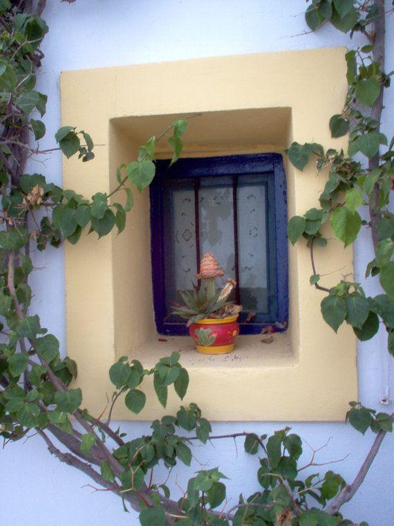 Greece Kythira photo of  blue summer window by prosinemi on Etsy, €20.00