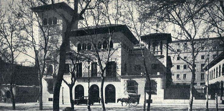 Palacio de Ceferino Ballesteros en el Paseo del Prado. DESAPARECIDO. Su lugar lo ocupa el ICO.