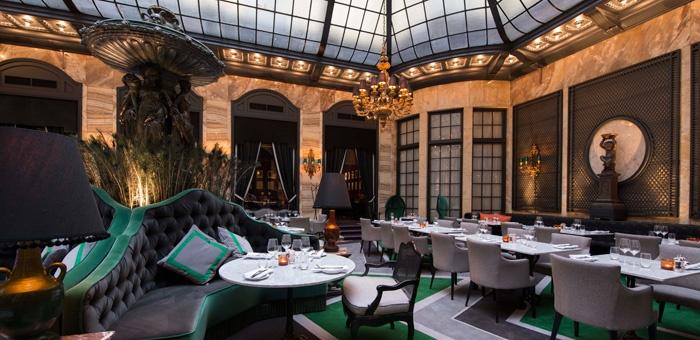 Palmen Restaurant, Grand Hotel Oslo. Carpets by DANSK WILTON. Interior by Anemone Wille Våge