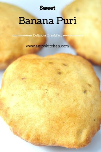 Sweet Banana Puri is also known as Mangalore buns. One of the best recipe to use overripe banana. A delicious, easy breakfast idea for kids in 15 minutes.