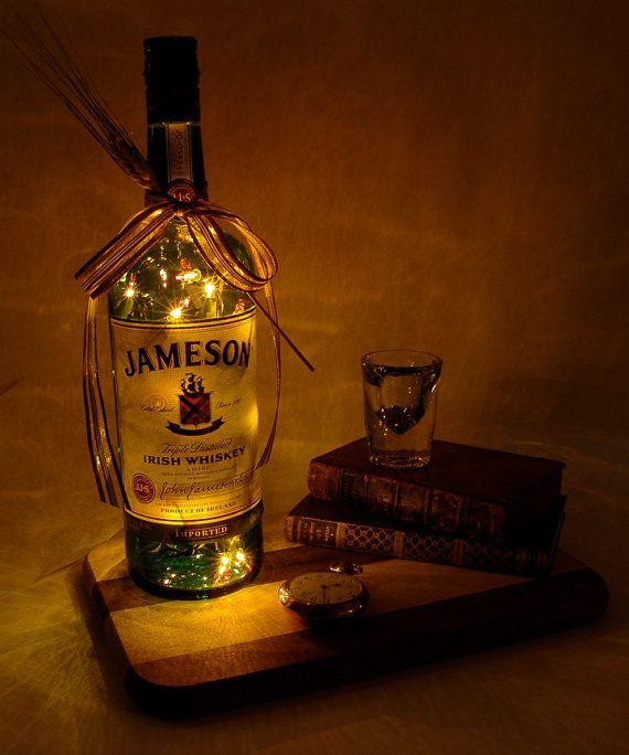Jameson Light Up Liquor Bottle - Lighted Decorated Bottle / Lamp / Bar / Party / Night Light on Etsy, $19.99