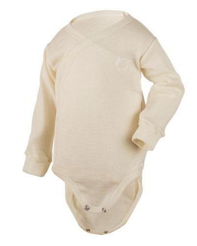 WE omslagsbody 100% ull hvit str 50-60 1stk - Apotek 1
