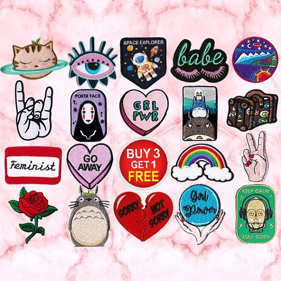 "2.75/"" Round Patch Iron On Girl Pwr Patch Craft"