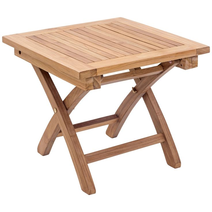 Zuo Starboard Natural Wood Outdoor Side Table - Style # 1Y208