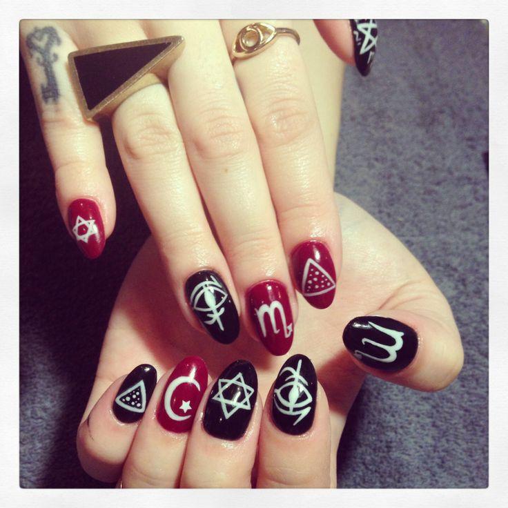 Occult gypsy almond nails by @mia motiee motiee motiee motiee Kearney