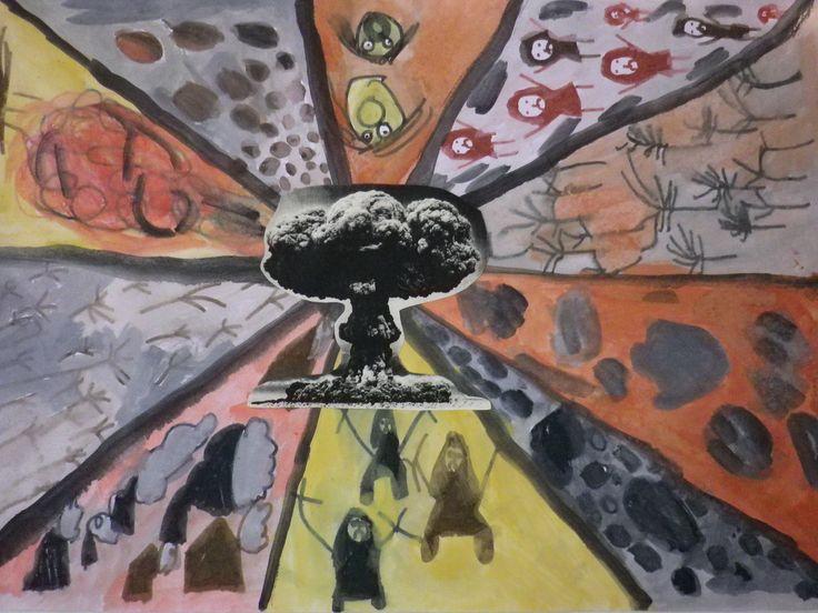 ομαδική ζωγραφική με θέμα τον πόλεμο
