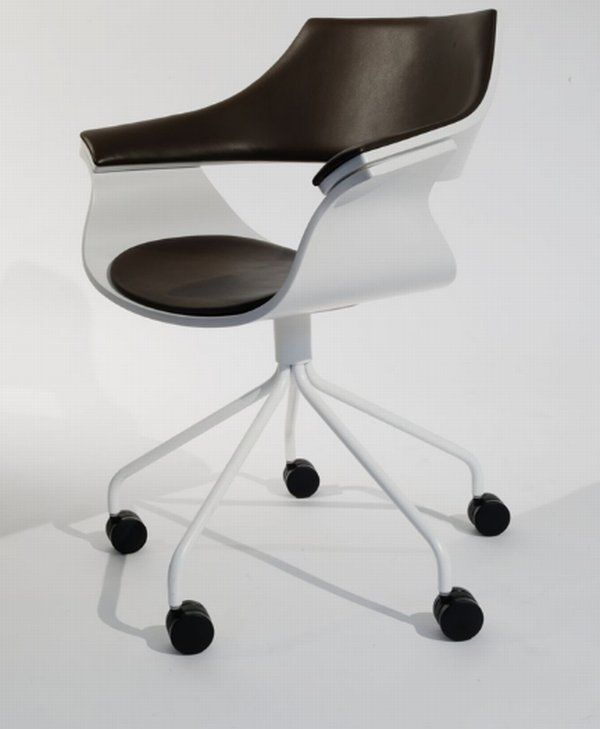 Workspace, A Comfortable Working Chair With White Color: A Comfortable Office Chair By Itoki Design, office chair parts