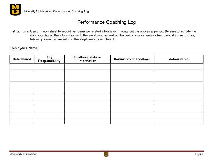 employee performance review form short templates. employee coaching ...