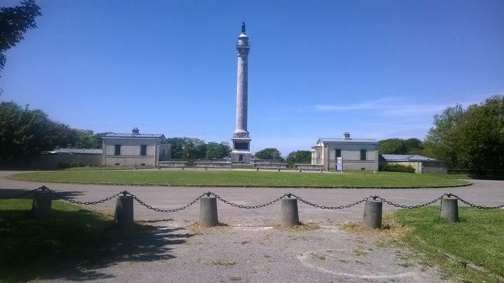 La colonne de la  grande Armée de Napoléon .