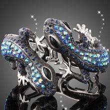 18K pozlacené modré drahokamu Lizard Luxury Brand Provedení Prohlášení o náramek 2016 Rusko módní šperky Ženy doplňky (Čína (pevninská část))
