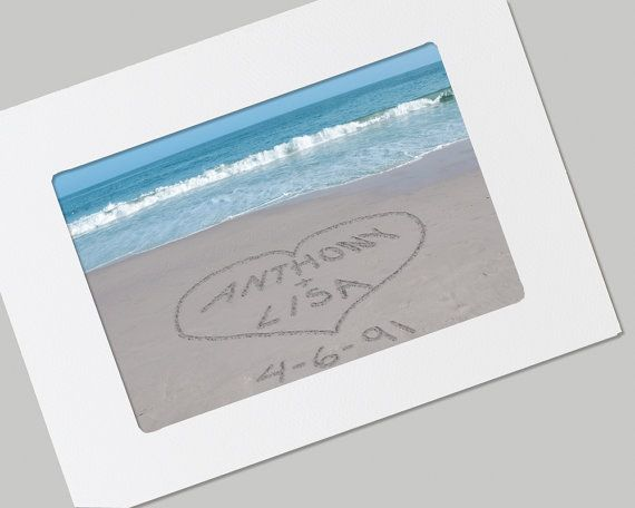 Photographic evidence   (Sand Writing Personalized Beach Card  by PictureItPersonal on Etsy, $12.00)