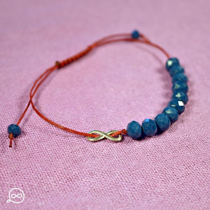 Royal Blue Beads Bracelet. #tufatufa