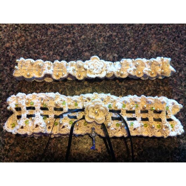 Contemporary Crochet Wedding Garter Pattern Embellishment Knitting
