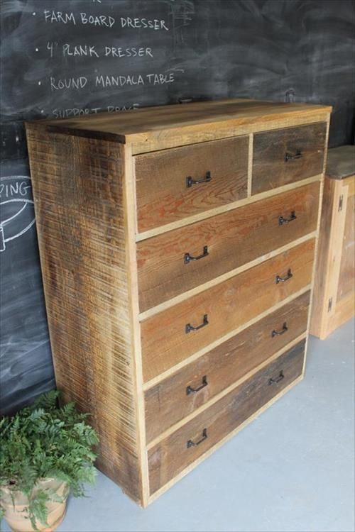 Pallet Dresser with Drawers Ideas | Pallets Furniture Designs