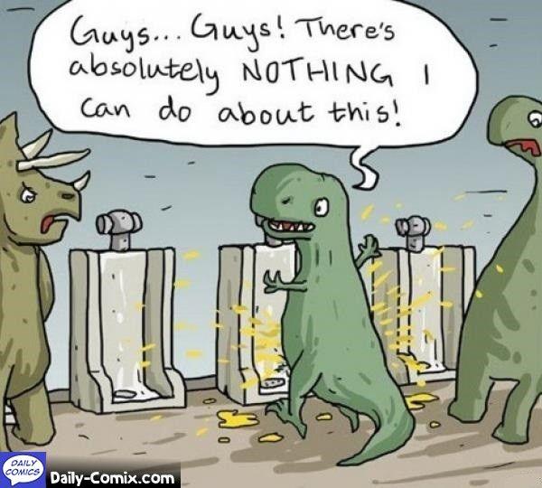 T-rex wizzing everywhere
