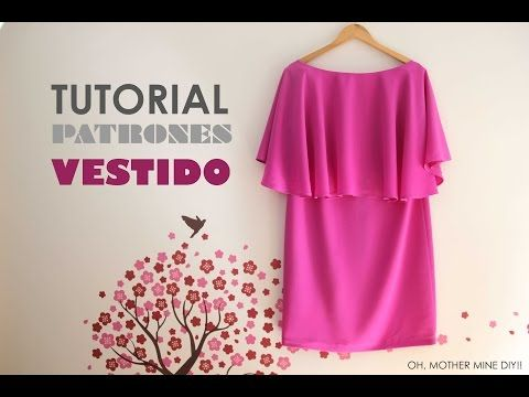 DIY Tutorial y patrones: Vestido de capa | Manualidades                                                                                                                                                                                 Más