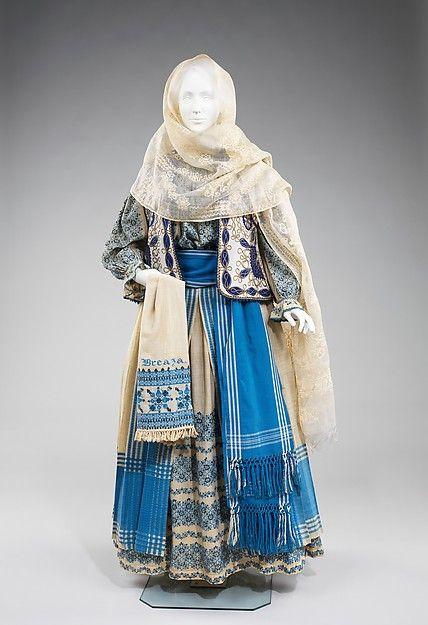 Ensemble, fourth quarter 19th century. Romanian. The Metropolitan Museum of Art, New York. Brooklyn Museum Costume Collection at The Metropolitan Museum of Art, Gift of the Brooklyn Museum, 2009; Gift of Mabel Choate, 1940 (2009.300.5a–h)