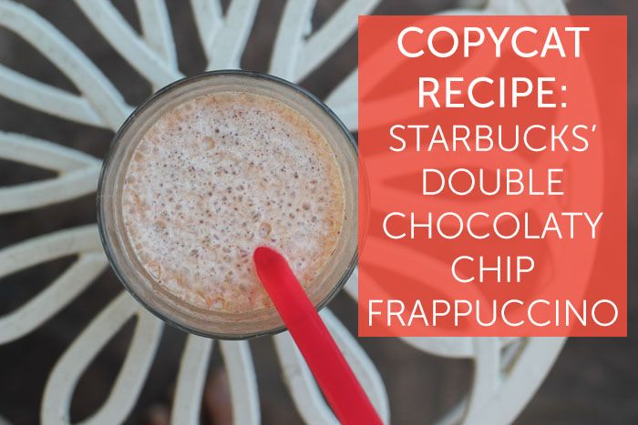 how to make a double chocolaty chip frappuccino
