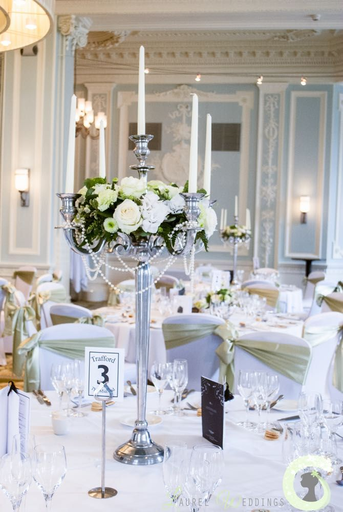 Tall Wedding Centerpieces For Rent : Ideas about candelabra flowers on pinterest