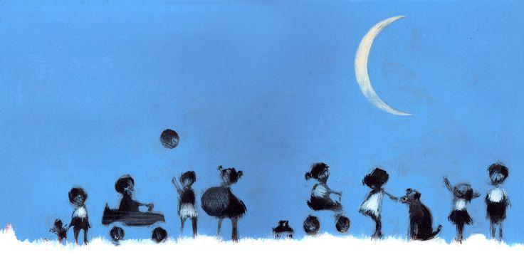 Luna con duendes.