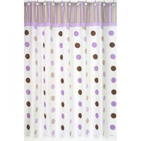 Mod Dots Purple Shower Curtain