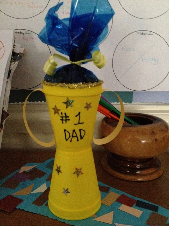 Father's day craft or trophy for any use