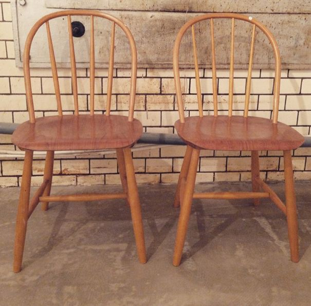 "Swedish teak chairs from Nesto.  Visit ""nonamevintageshop"" on Instagram for moore.  http://instagram.com/p/x4YuDDu8p5/?modal=true"