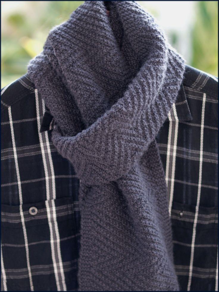 вязание спицами шарф мужской в картинках