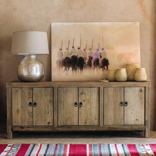 Buffet en orme recycl l 180 cm deco salon inspiration voyage pinterest meubles manger et - Deco buffet salon ...