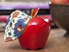 Özel Koleksiyon Çini Transferli Kırmızı Elma