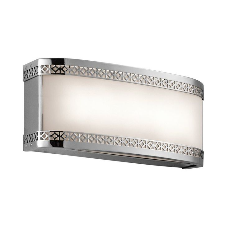 Kichler Lighting Contessa 1-Light Chrome Rectangle Vanity Light Bar
