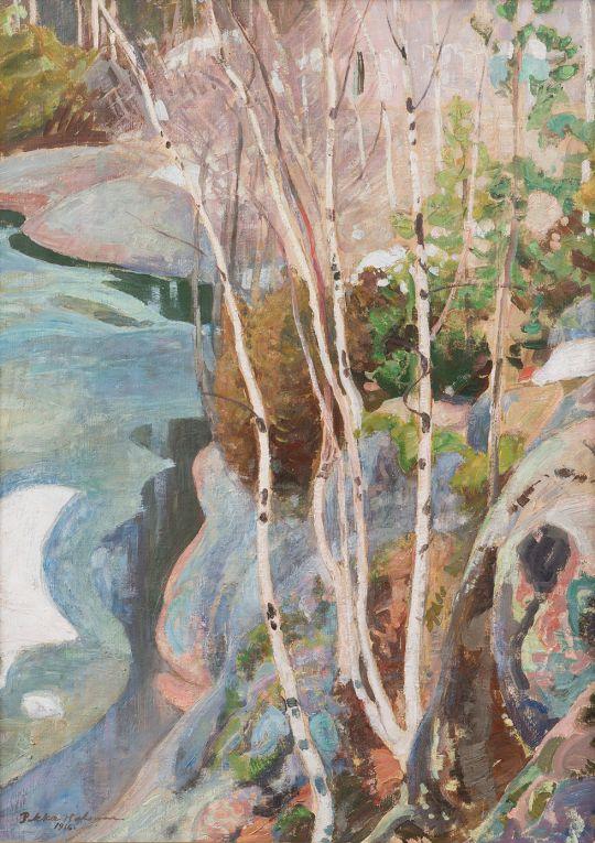 Breaking Ice, 1916. Pekka Halonen. Oil on canvas