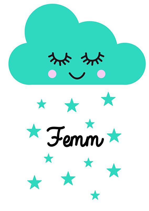 Geboortesticker type Femm