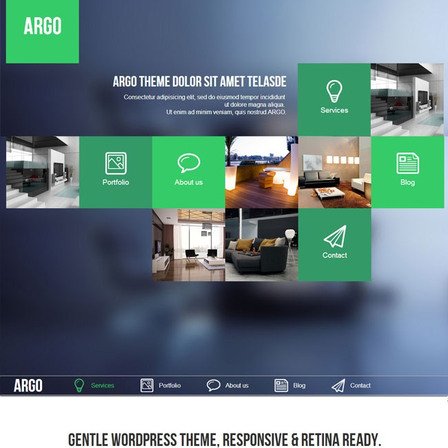 Argo Modern OnePage Metro UI WordPress Theme | Best WordPress Themes Download 2013