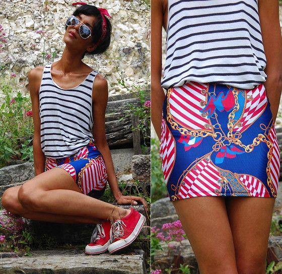 Lovelysally Genoa Nautical Skirt
