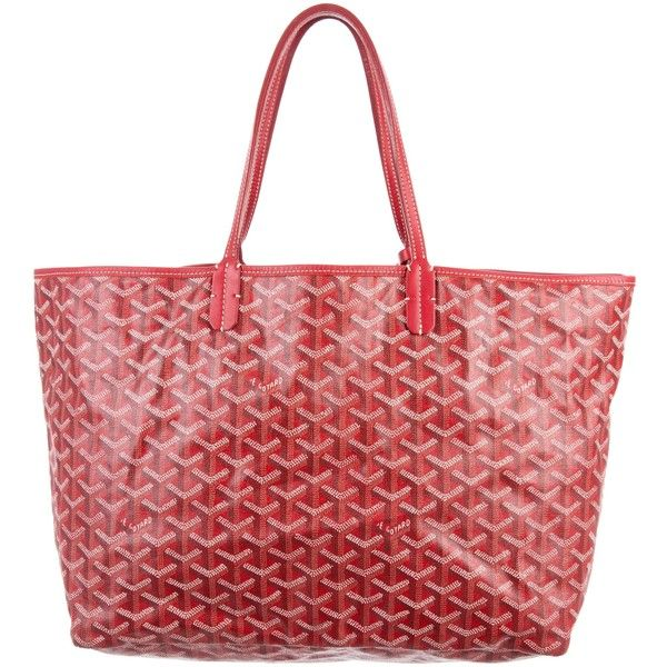 Pre-owned Goyard Goyardine St. Louis PM w/ Pouch ($1,395) ❤ liked on Polyvore featuring bags, handbags, red, red hand bags, goyard purse, hand bags, goyard handbags and pouch purse