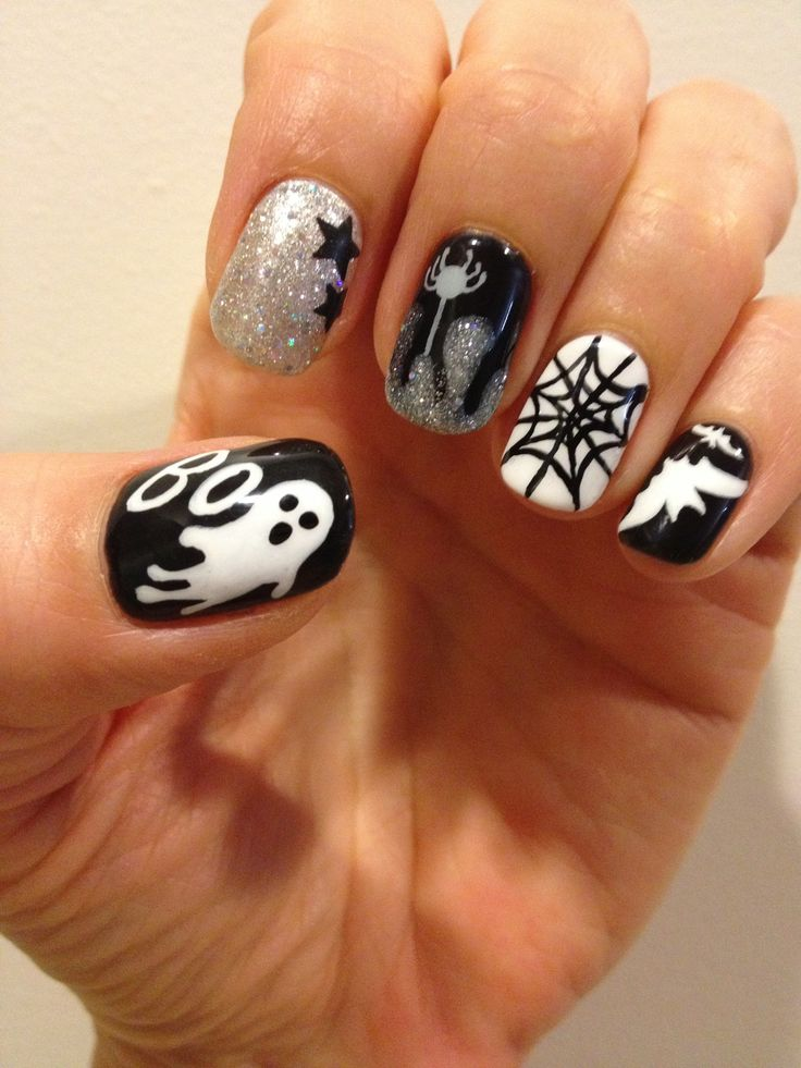 Halloween hand paint nail art!! | Nails And Toes | Pinterest