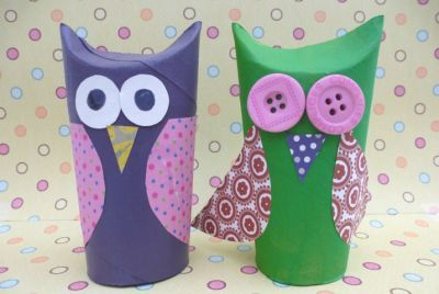 Little owls  #crafts #craftsforkids