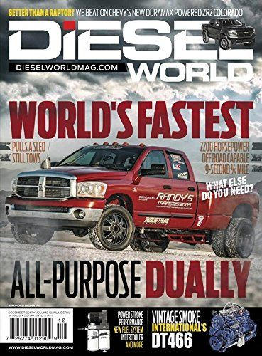 Diesel World. Covers all diesel-powered vehicles, trucks and tow vehicles with an eye for technical innovation, and advancements in related equipment and fuel technology. .