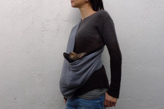 Hey, I found this really awesome Etsy listing at https://www.etsy.com/listing/165009239/small-dog-sling-carrier-grey-dog-bag-pet