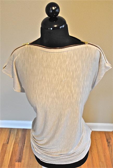 My Zipper Tee DIY tutorial...Tshirt Recycle  Supplies: Zipper 22 inches or so...  old tshirt or 1 yard fabric.