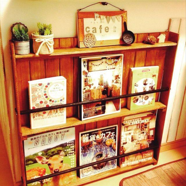satoreruさんの、すのこ棚,セリア,ダイソー木材,ナチュラルキッチン,DIY,本棚,すのこリメイク,brown×black,キッチンカウンター下,リビング,のお部屋写真
