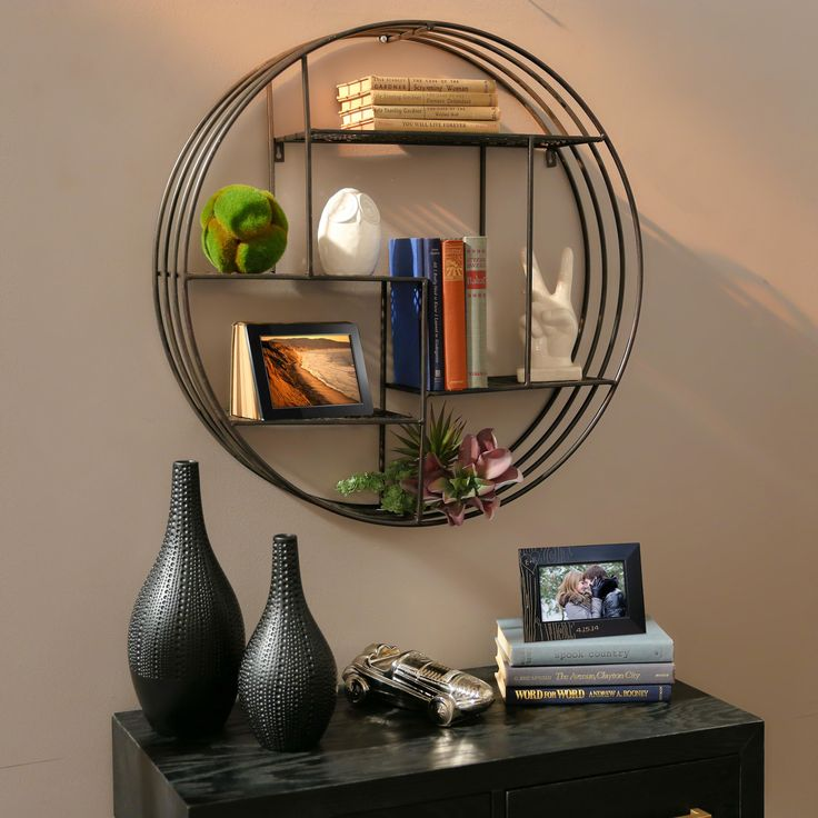 A round shelf Display your collection in
