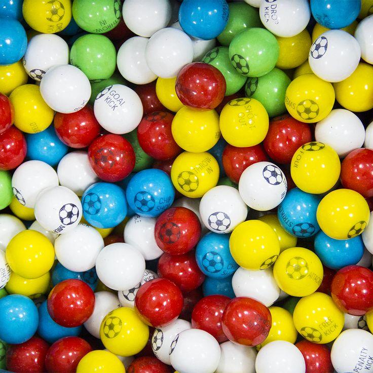 """Жевательная резинка 25 мм """"Футбольные Мячики"""" zed candy #football #gumballs"""