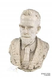Bust of Ernest Wunderlich, marble, used by Wunderlich, Sydney, New South Wales, Australia  A white marble bust of Ernest Wunderlich who is depicted wearing a coat and tie. New South Wales; 1899 - 1969