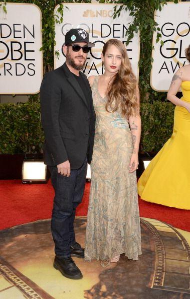 Jemima Kirke and husband Michael Mosberg http://www.graziadaily.co.uk/fashion/news/golden-globe-awards-2014-best-dresses