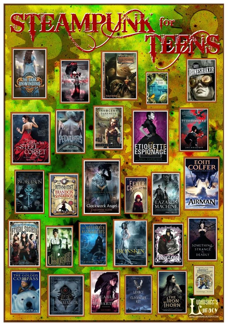 Lunanshee's Lunacy: Steampunk for Teens: Book Poster & Bookmark